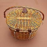 <span class='highlight'><span class='highlight'>Einsgut</span></span> bicycle basket retro baker basket bicycle basket wicker basket bicycle basket with two straps and lid