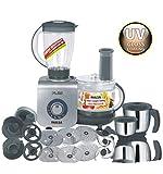 Inalsa Maxie Premia 800-Watt Food Processor with 3 Jar (Grey PU Spray Painted)
