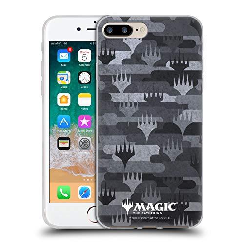 Head Case Designs Licenciado Oficialmente Magic The Gathering MTG Gris Patrones Carcasa de Gel de Silicona Compatible con Apple iPhone 7 Plus/iPhone 8 Plus