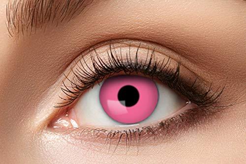 Eyecatcher 84063141-625 - Farbige Kontaktlinsen, 1 Paar, für 12 Monate, Pink, Karneval, Fasching, Halloween