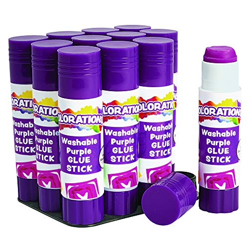 Colorations SGSTRAY Best-Value Washable Glue Sticks, Small, (0.32 oz.) (Pack of 12)