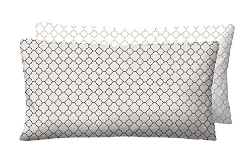 biberna 0636045 Mix & Match Taie d'oreiller en satin de coton mako 1x 40x80 cm, taupe