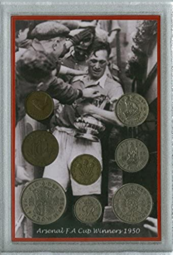 Arsenal FC (The Gunners Gooners) Vintage Joe Mercer F.A FA Cup Final Winners Retro Coin Present Display Gift Set 1950