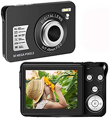 Digital Camera?30 Mega Pixels Student Camera Mini Camera 2.7 Inch HD 1080P Camera with 8X Digital Zoom Compact Camera by CEDITA