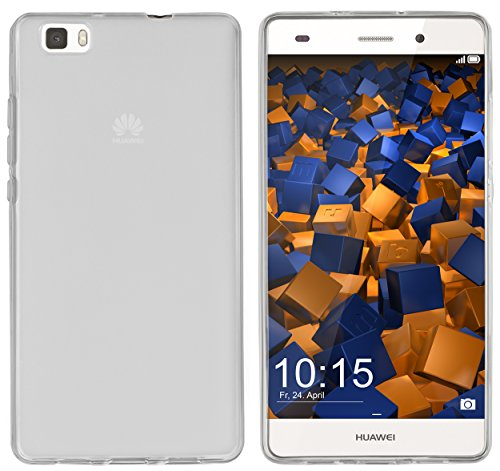 mumbi Hülle kompatibel mit Huawei P8 Lite 2015 Handy Case Handyhülle, transparent weiss