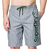 Superdry Classic Boardshort Shorts de Planche, Gris Argenté, XS Homme
