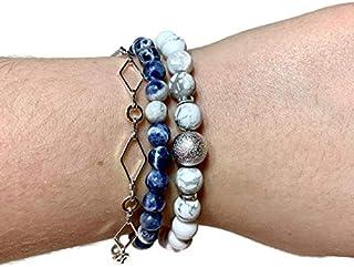 Bracelet Stack | Natural Stone Jewelry | Bracelet Set | Chain Bracelet (#104)