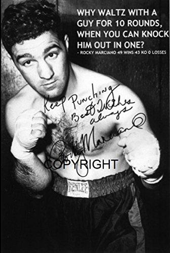 THEPRINTSHOP Limited Edition Rocky Marciano Zitat unterzeichnet Foto Autogramm signiertsigniertes