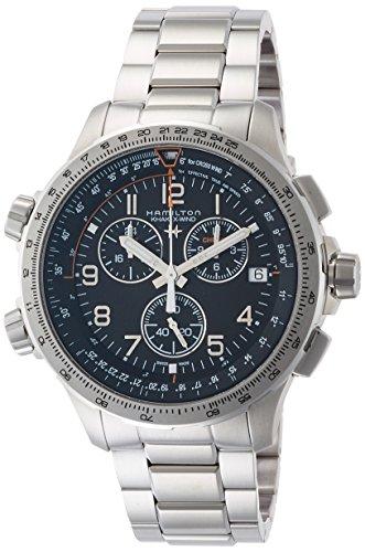 [ハミルトン] 腕時計 カーキ X-ウィンド GMT クロノグラフ H77912135 正規輸入品 シルバー