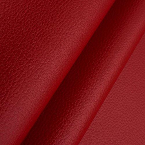 EDGE Kunstleder Meterware 1lfm 1,4m breit Polsterstoff Bezugsstoff Lederoptik Dunkel Rot