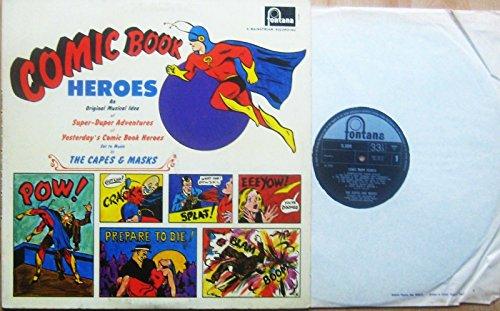 COMIC BOOK HEROES Vinyl LP Music By The Capes & Masks,(Rare Album,1965)