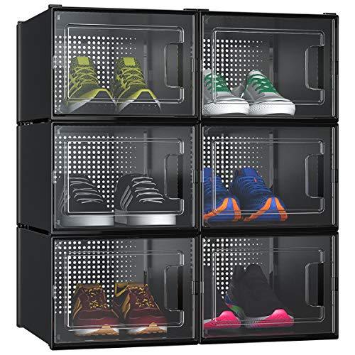 YITAHOME Shoe Box, Set of 6 Large Size Shoe Storage Organizers Heavy...