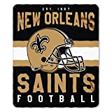 NFL New Orleans Saints Singular Fleece Throw, 50-inch by 60-inch, Yellow