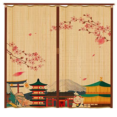 GCC bambù Rullo Zanzariera,tonalità delle Porte Immagine Appesa retrò Stile Cinese Traspirante Interna...