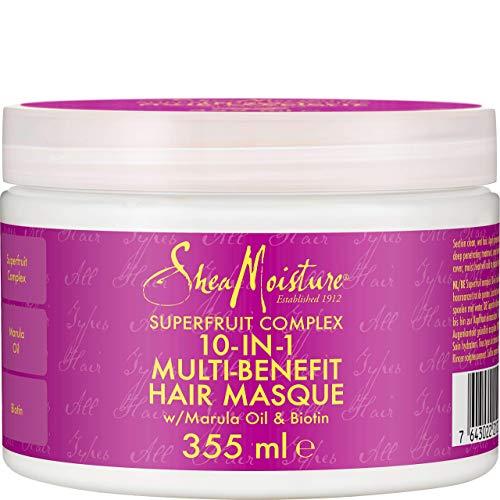 Shea Moisture, Superfruit 10-in-1, maschera per capelli, sistema rigenerativo, 326ml