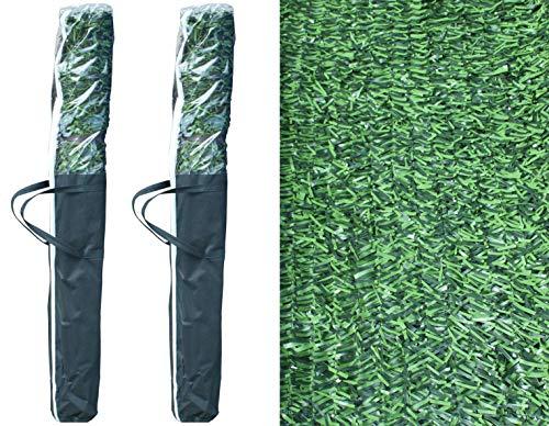Pal Ferretería Industrial 2 Rollos de seto Artificial ignífugo Verde de ocultación 3x1m