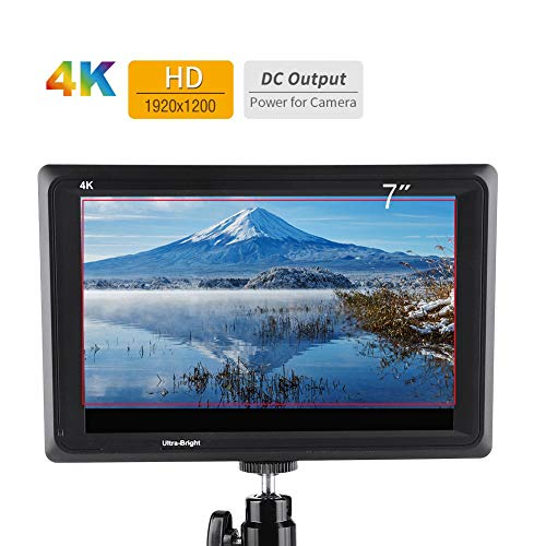 Monitor de cámara, FW279 7 Pulgadas 4K HDMI 1920x1200 2200nit Monitor de...