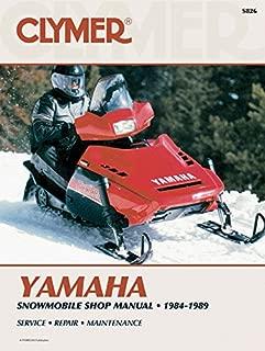 Clymer Yamaha Snowmobile Shop Manual 1984-1989: Service, Repair, Maintenance (Clymer Snowmobile Repair Series)