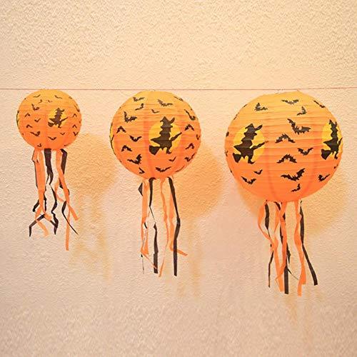TTYAC 4pcs Halloween Kürbis Laternen LED Lichterketten Halloween Urlaub Weihnachtsfeier Garten Dekoration Laternen Licht, 04,40cm