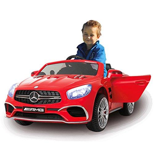 RC Auto kaufen Kinderauto Bild 2: Jamara 460294 Ride-on Mercedes SL65 rot 12V-Softanlauf, 2-Gang, Stoßdämpfer, SD-Slot, AUX-und USB-Anschluss, LED, Hupe, bis zu 90 Min. Fahrzeit, Ultra-Gripp Gummiring*