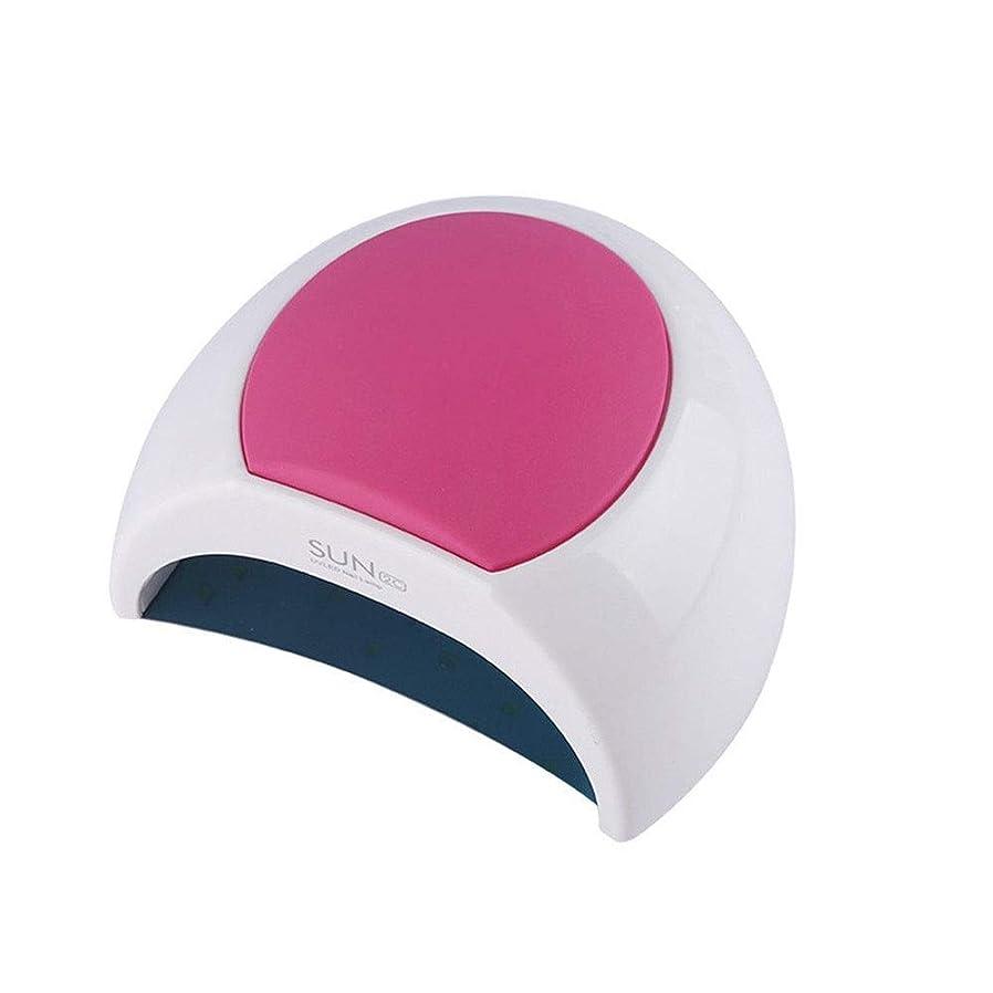 知るインチ打たれたトラックネイルポリッシュドライヤー多機能ネイル光線療法マシンの低消費電力のホームネイルアート (Color : Red)