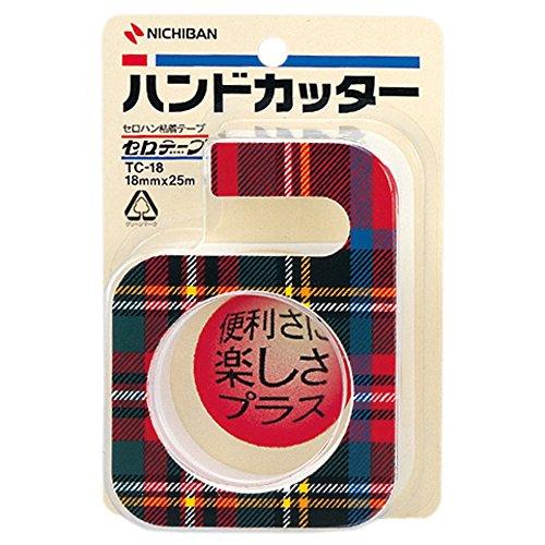 Nichiban Klebeband Shinji Handschneider 18mm x 25m Plaid TC-18 (Japan-Import)