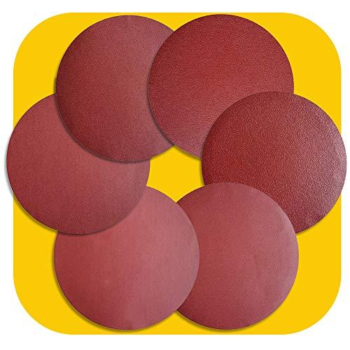 30 PCS 8-Inch NO-Hole PSA Aluminum Oxide Sanding Disc, Self Stick(5 Each of 60 100 150 180 240 400) (8 inch)
