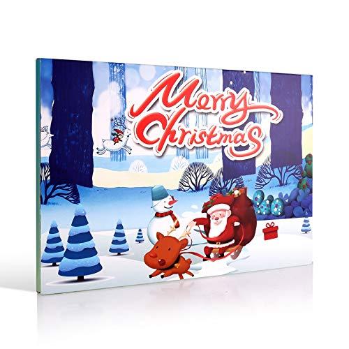 NewBeeclassic Advent Calendar 2020 Christmas Countdown Calendar for Kids Teen Girls Women, Includes 24Pcs Random Fashion Jewelry DIY Bracelet Necklace, Surprise for Xmas 24 Days