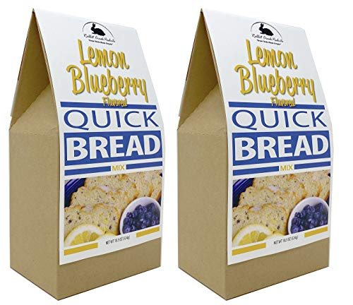 Rabbit Creek Lemon Blueberry Quick Bread Mix Pack of 2 - Easy Gourmet Dessert Bread Breakfast Bread - Made in the USA