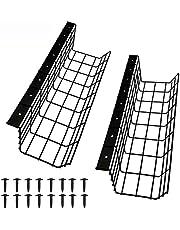Bureau kabelgoot metaal met 18 schroeven, bureau kabelmanagement ondertafel, bureau kabelhouder voor kabelorde, 2 stuks