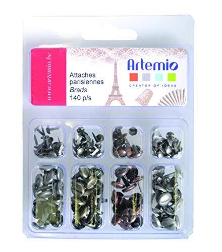 Artemio - Lote de 140 Tachuelas con diseño de Tornillos envejecidos