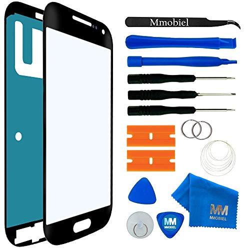 MMOBIEL Front Glas Reparatur Set kompatibel mit Samsung Galaxy S4 Mini i9190 i9195 (Schwarz) Bildschirm mit Werkzeug-Set