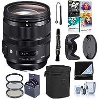 Sigma 24–70mm f2. 8DG OS HSM IF Artレンズfor Canon EOSデジタルカメラ–Bundle with 82MMフィルターキット、レンズラップ、クリーニングキット、Capleash II、Lenspenレンズクリーナー、ソフトウェアパッケージ