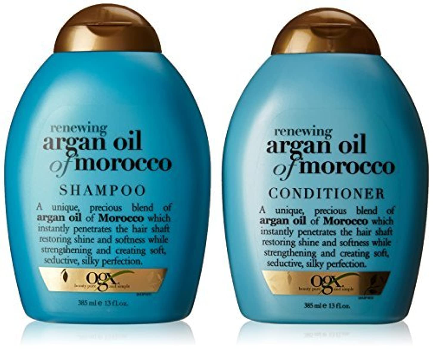 OGX Renewing Argan Oil of Morocco Shampoo & Conditioner (13 fl. Oz.) [並行輸入品]