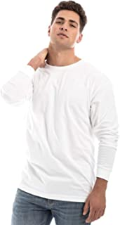 Unisex Long Sleeve Cotton Basic T-Shirt Top for Men and Women