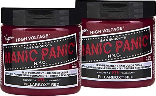 Manic Panic - Pillarbox Red Classic Creme Vegan Cruelty Free Semi Permanent Hair Dye - 2 x 118ml