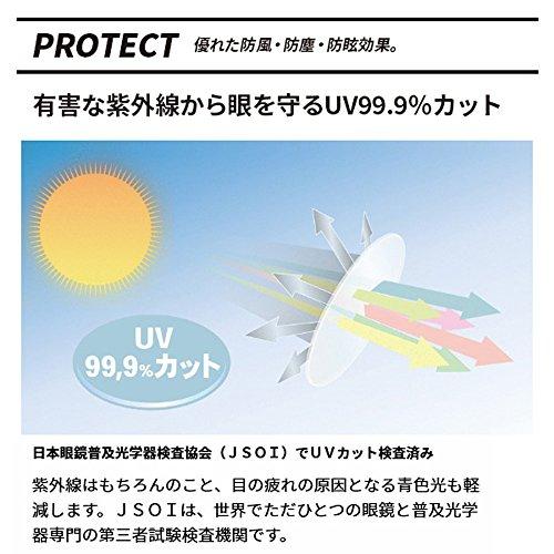 エレッセellesseスポーツサングラス偏光メンズレディースUVカット汗止めラバーパッド超軽量ES-7001-H542933ブラック/レッド