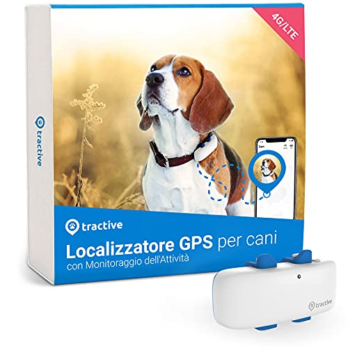 Tractive Localizzatore GPS Cani (2021). Sai Sempre dov'è Il Tuo Cane. attività e Posizione 24/7
