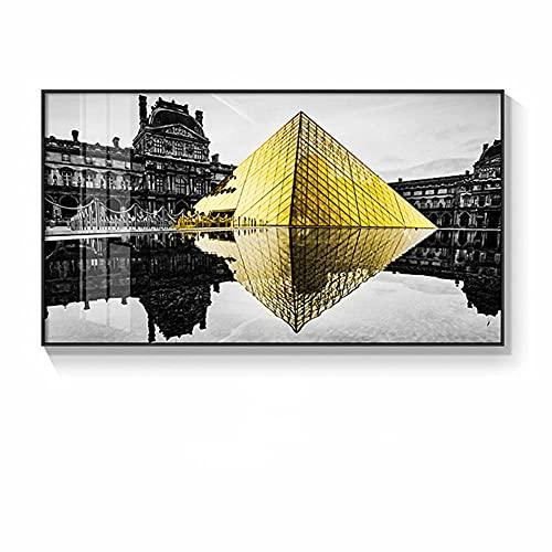 Kit de Pintura de Diamante 5D Grande Pirámide de cristal Taladro Completo DIY Diamond Painting Kit Completo Bordado de Diamantes de Imitación Punto de Cruz Decoración 30x60cm