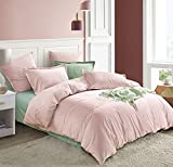 PHF Velvet Duvet Cover Set 3 Pieces with Corner Ties - Soft, Breathable Luxurious Bedding Set - Lightweight for Spring Summer - King Size (106'x 92'), Pink Mocha