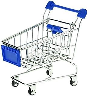 nicebuty Mini Supermercado Carrito Carrito De La Compra cesta de almacenamiento de modelo des (azul)