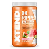 XTEND Ripped BCAA Powder Watermelon Lime | Cutting Formula + Sugar Free Post Workout Muscle Recovery Drink with Amino Acids | 7g BCAAs for Men & Women | 30 Servings