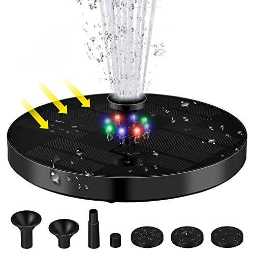 Fuente solar, fuente solar con iluminación LED, batería de 3 W, 1200...