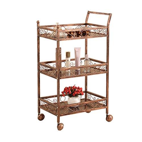 BNSDMM Trolley - Beauty Equipment Cart Physiotherapie Regal DREI-Schicht-Cart Eisenrahmen Rack Beauty Salon Cart Tool Cart - 46.5x30.5x83cm (Color : C)