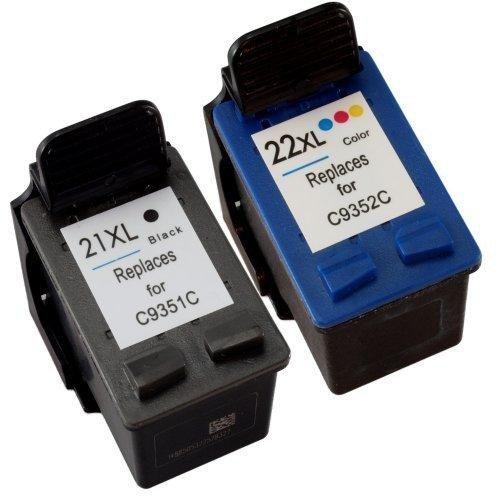 Pack Cartuchos Tinta Compatible para HP 21 XL / 22 XL Negro y Tricolor T75 T76
