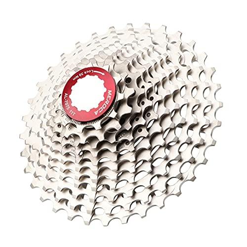 QXYOGO Cassettes Y PiñOnes Bike Flywheel 11s -28t Cassette Racing Speed Gravel Bike 28T 32T 36T Ultralight CNC Flywheel Freewheel MTB Piezas de Bicicleta Rueda Libre (Color : 11s 11 34t)