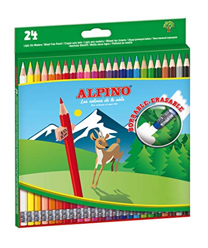 24 Lápices de colores borrables