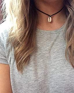 Phonphisai shop Boho Cowrie Shell Necklace Pendant Hippie Adjustable Beach Mermaid Jewellery