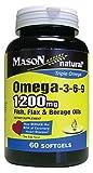 Mason Naturals, Omega 3-6-9,Fish,Flx,Brg 60 Sgel Ea 1