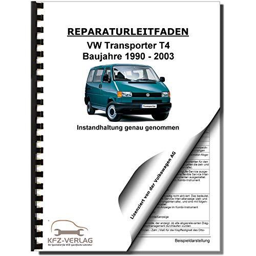 VW Transporter T4 1990-2003 Instandhaltung Inspektion Wartung Reparaturanleitung